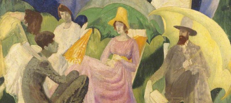 Brett, Dorothy Eugenie, 1883-1977; Umbrellas